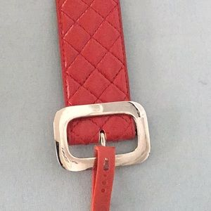 NWT No Boundaries Red Belt with a Silver Buckle
